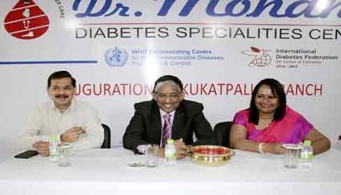 Dr. Mohan's launches 20th diabetes specialities centre in Hyderabad